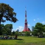 東京タワー眺望点芝公園芝生広場