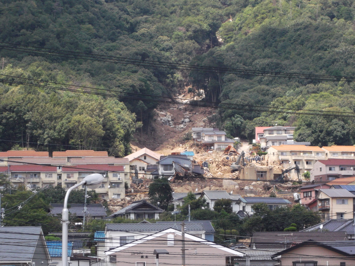 土砂災害防止法(平成26年8月豪雨による広島市の土砂災害)