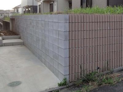ブロック擁壁