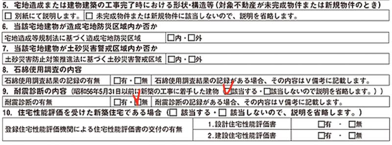 建物の耐震診断の結果(重要事項説明書)