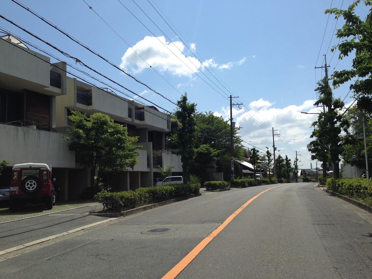 第二種低層住居専用地域の街なみ