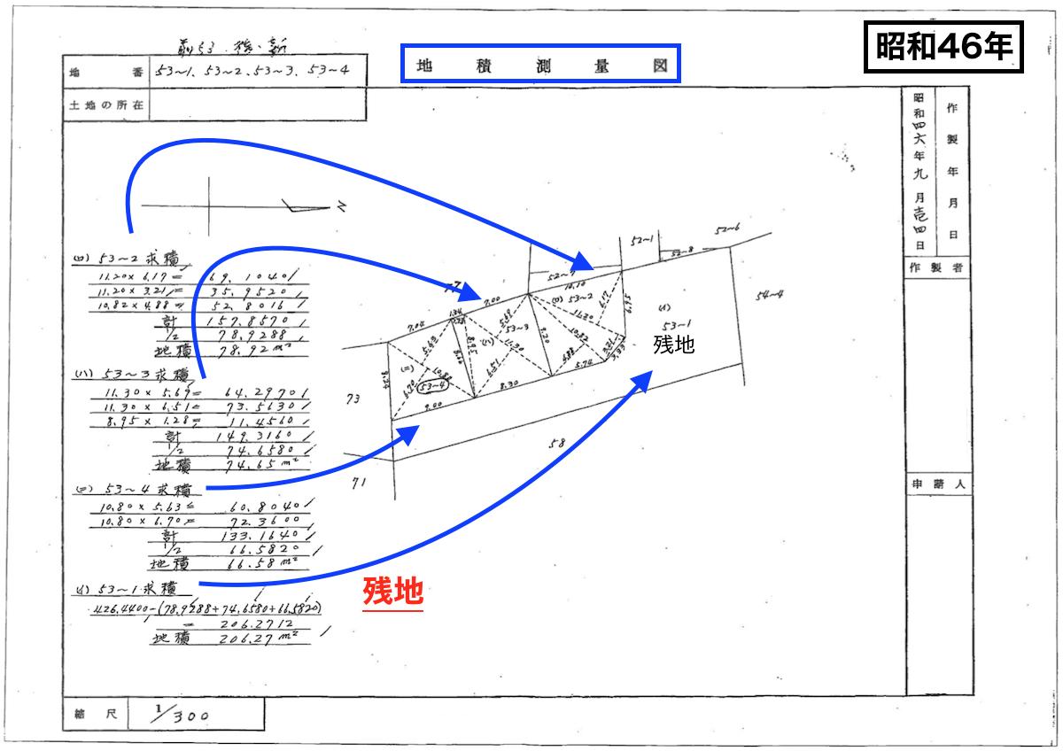 地積測量図(昭和46年)