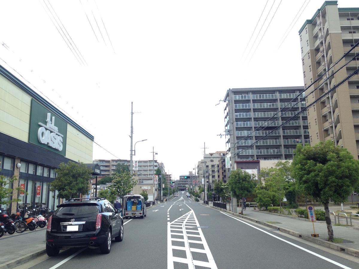 第二種中高層住居専用地域の街なみ