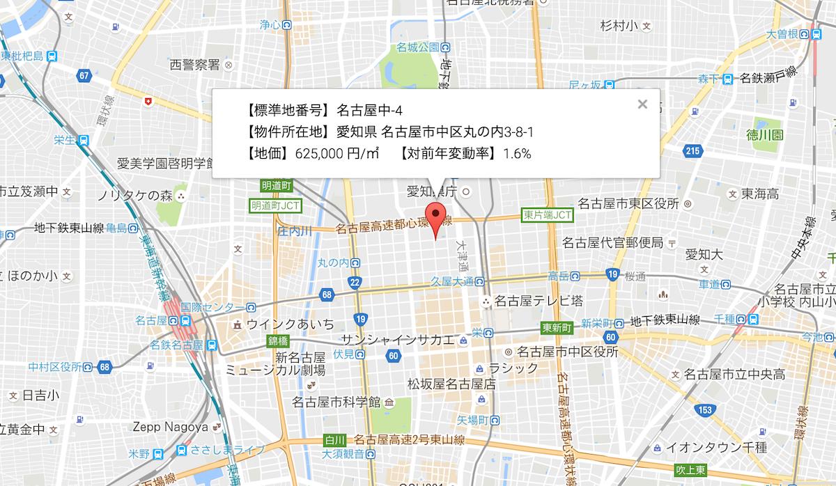 名古屋市中区地価