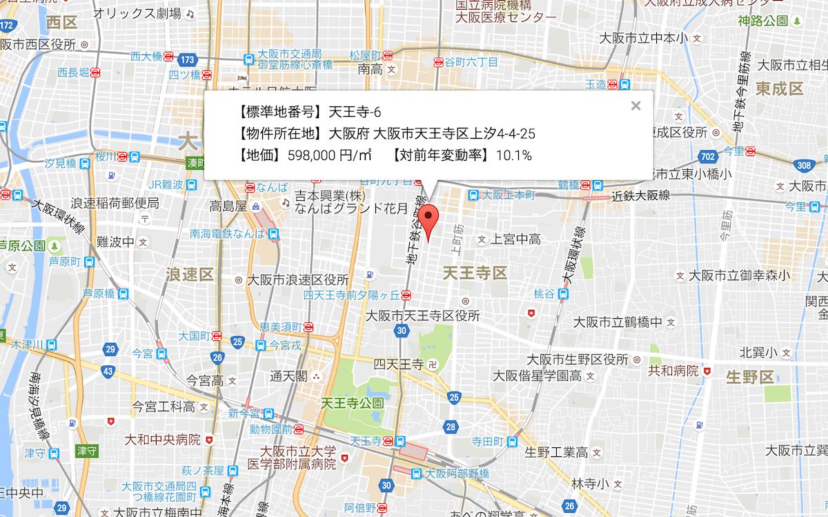 大阪市天王寺区地価