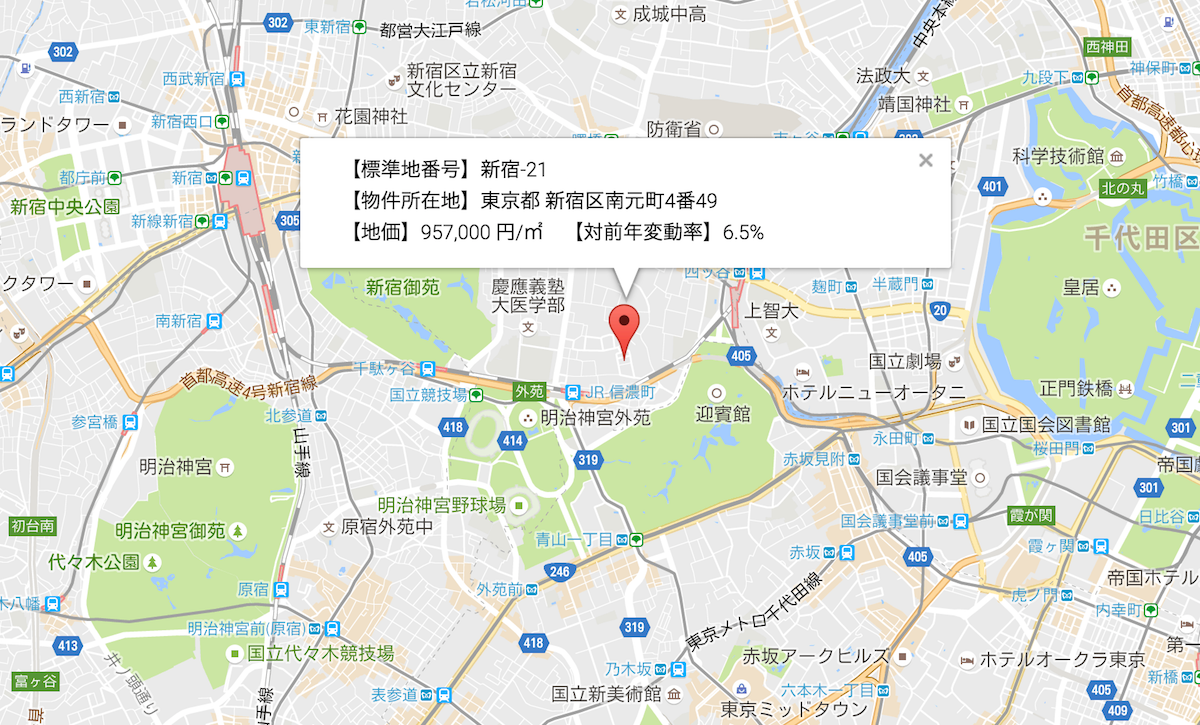 新宿区地価