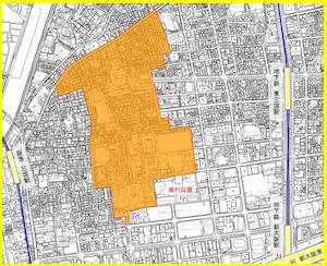 三国東地区土地区画整理事業範囲