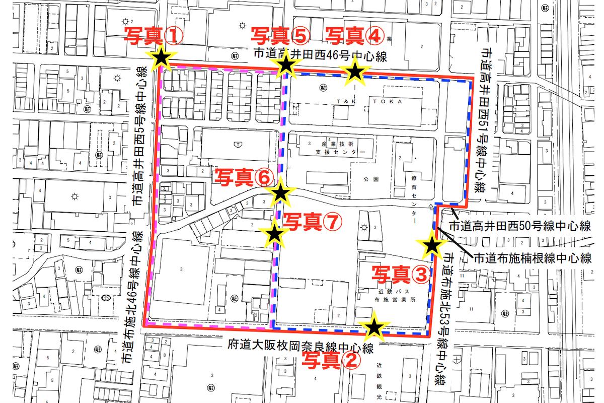 高井田中1丁目地区計画図2