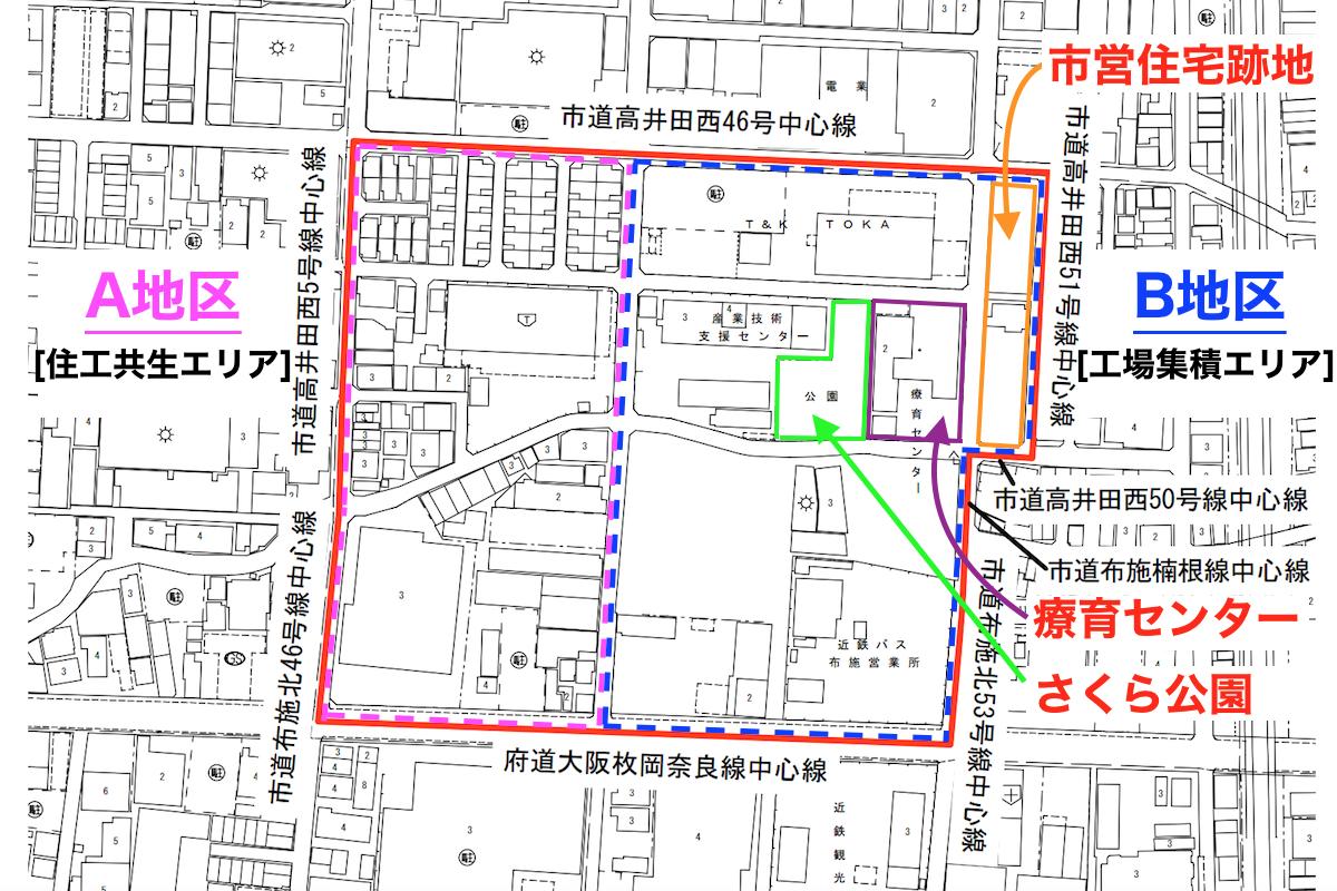 高井田中1丁目地区計画図1
