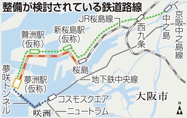 中央線延伸・JR桜島線延伸