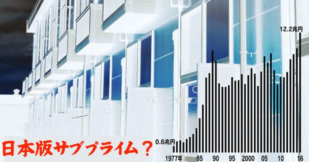日本版サブプライム?バブルを超える不動産融資とアパート融資の膨張