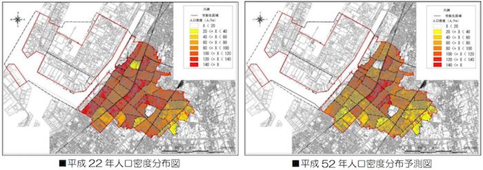 高石市の人口密度