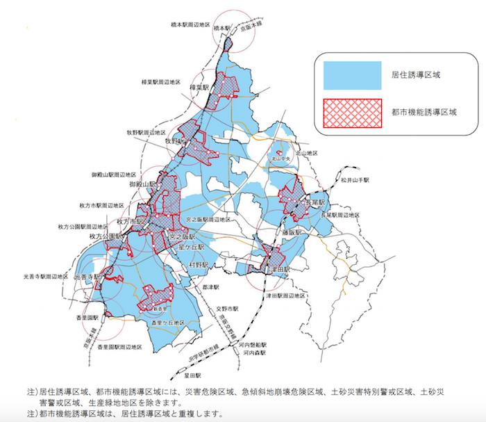 枚方市居住誘導区域・都市機能誘導区域