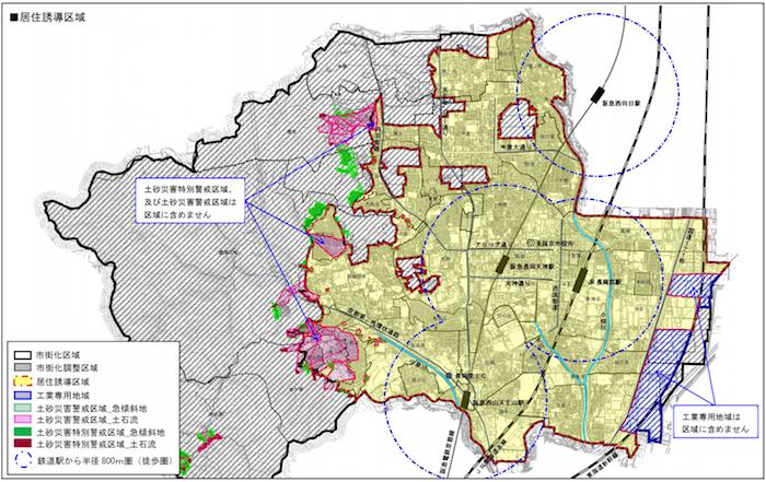 長岡京市土砂災害特別警戒区域