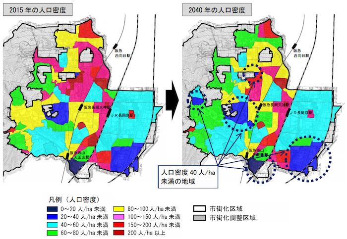 長岡京市人口密度