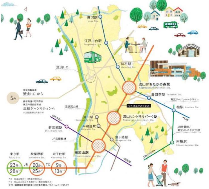 流山市の立地適正化(コンパクトシティ)計画・居住誘導区域は?
