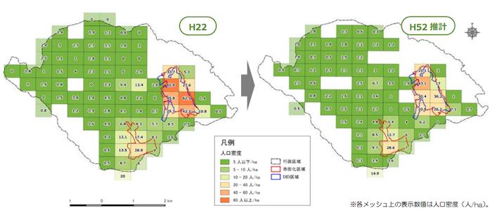 鳩山町人口密度