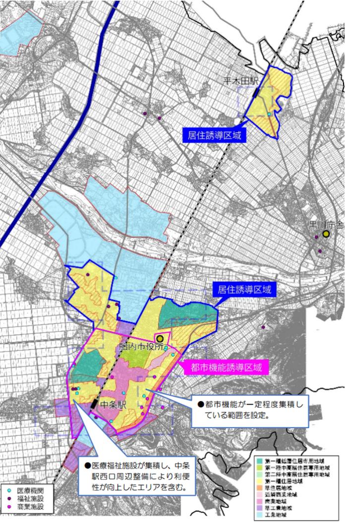 胎内市都市機能誘導区域