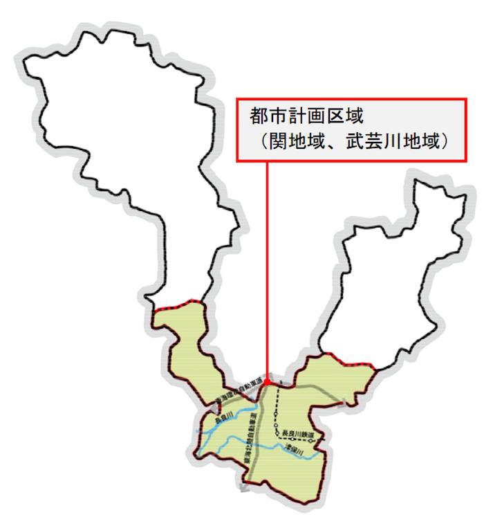 関市都市計画区域