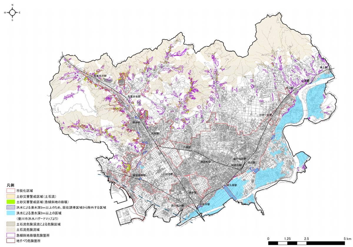 豊川市居住誘導区域に含めない区域
