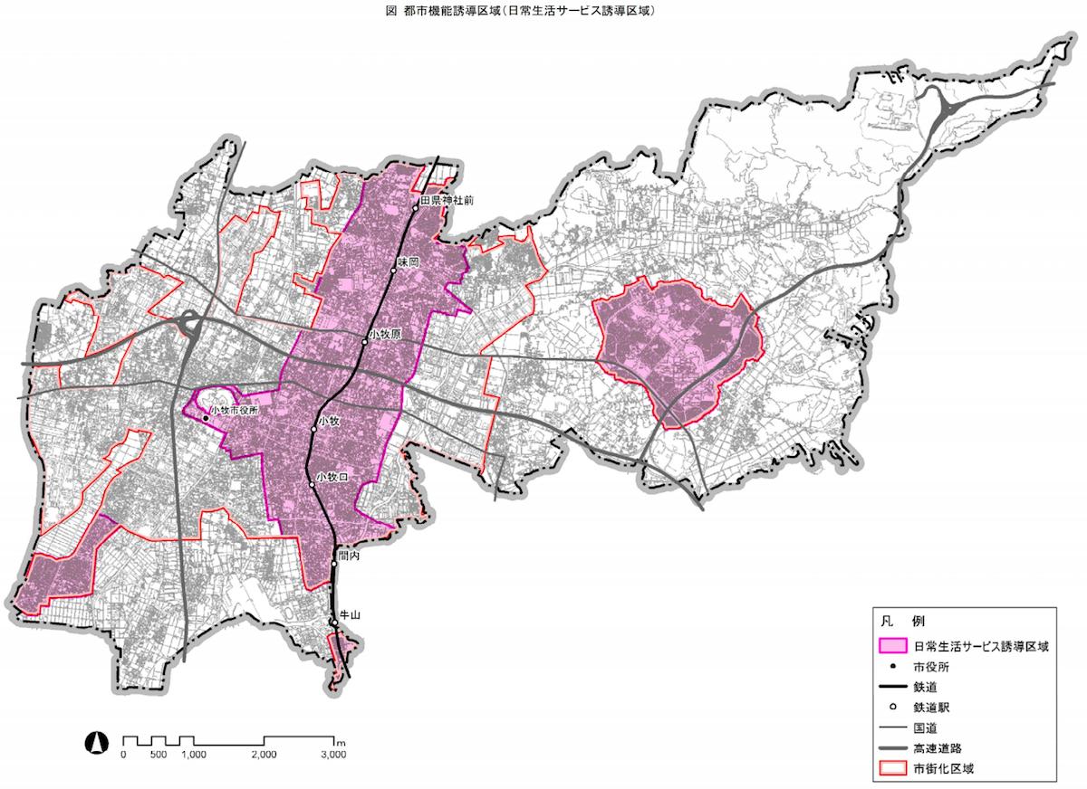 小牧市都市機能誘導区域
