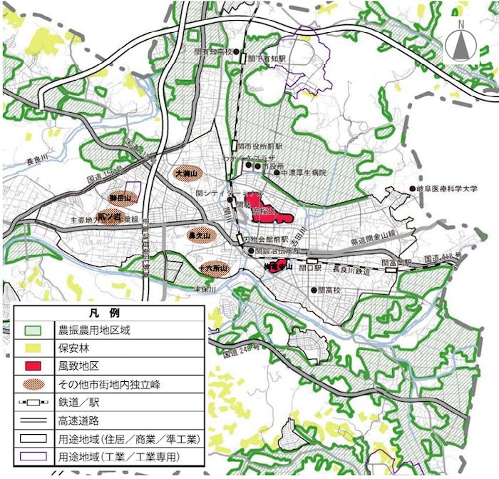 関市の良好な緑地