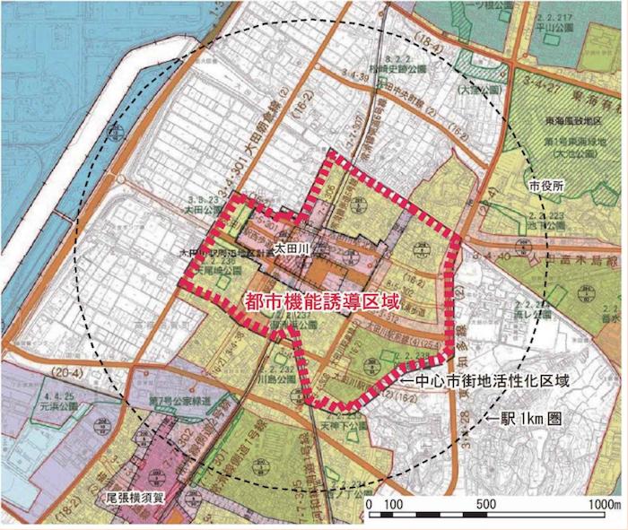 東海市都市機能誘導区域(太田川駅周辺)