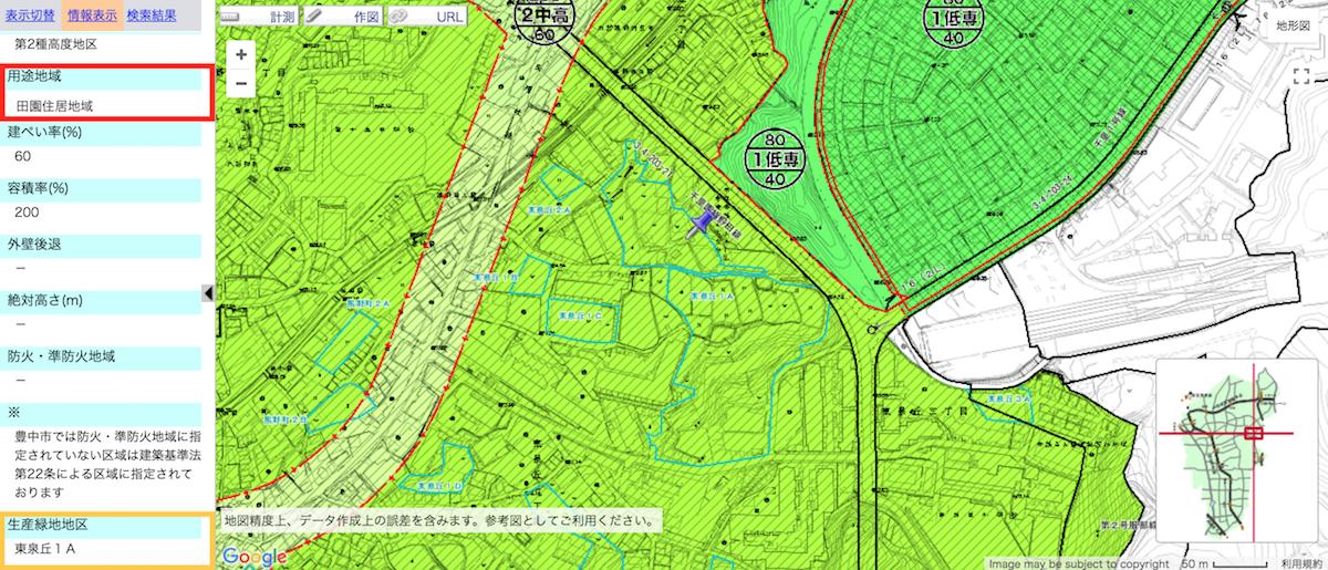 用途地域:田園住居地域のイメージ