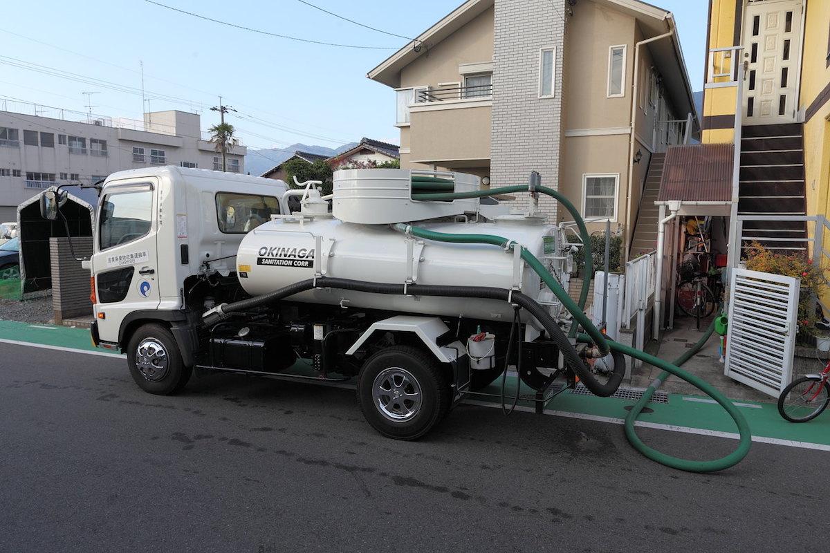 下水道の調査・汲取式