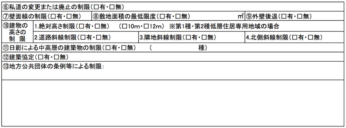 建築基準法に基づく制限2
