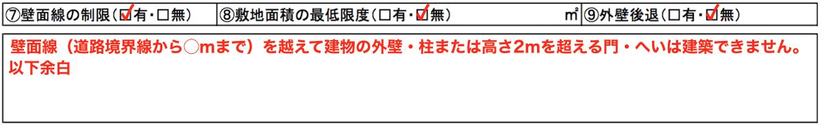 壁面線による制限(記入方法)